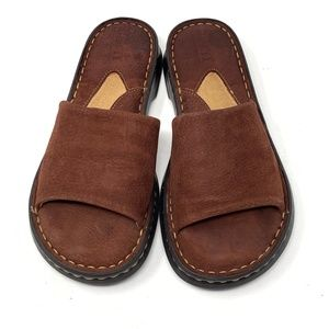 Born brown suede slip ons size 6